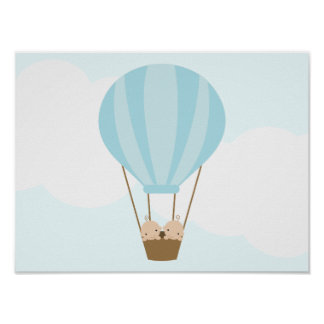 Up, Up and Away! Twin Boys Children's Wall Art