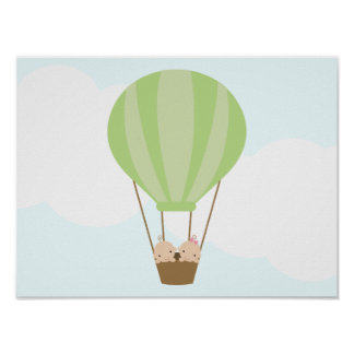 Up, Up and Away! Twins Children's Wall Art