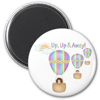 Up Up & Away! 2 Inch Round Magnet