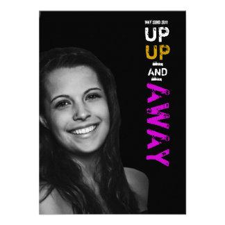 Up Up Away Graduation Invitation