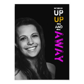 Up Up & Away Graduation Invitation