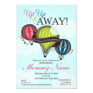 Hot Air Balloons Invitations Announcements Zazzle
