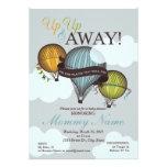 Up Up & Away Hot Air Balloon Shower Invitation