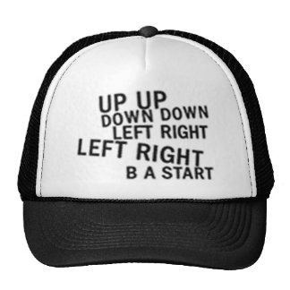 UP UP DOWN DOWN LEFT RIGHT LEFT RIGHT B A START TRUCKER HATS