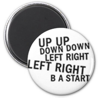 UP UP DOWN DOWN LEFT RIGHT LEFT RIGHT B A START REFRIGERATOR MAGNETS