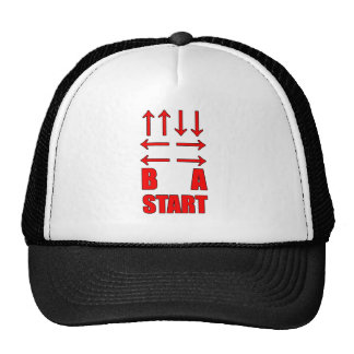Up Up Down Down Left Right Left Right B A Start Trucker Hat