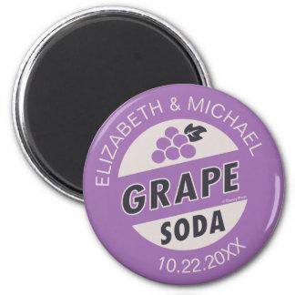 Up Wedding | Grape Soda 2 Inch Round Magnet