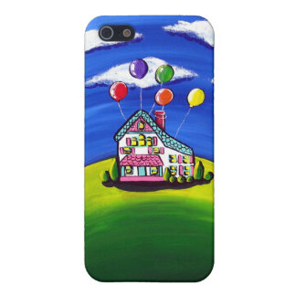 """""""Up"""" Whimsical House Balloons iPhone 4 Speck Case Cover For iPhone 5"""