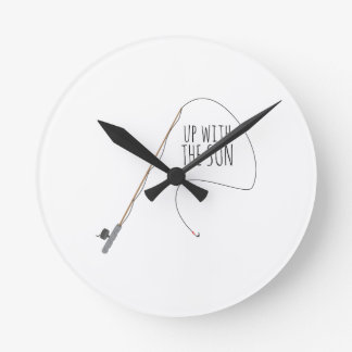 Up With Sun Wall Clock