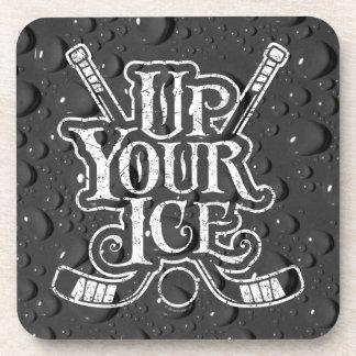Up Your Ice (Hockey) Drink Coaster