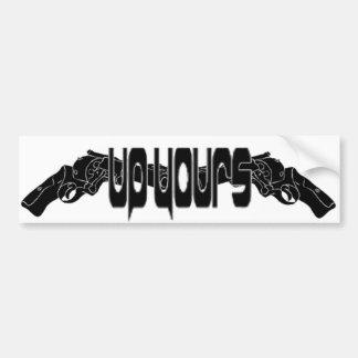"""""""Up Yours"""" Bumper stick Bumper Sticker"""