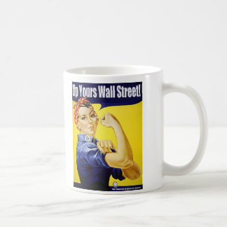Up Yours Wall Street Classic White Coffee Mug