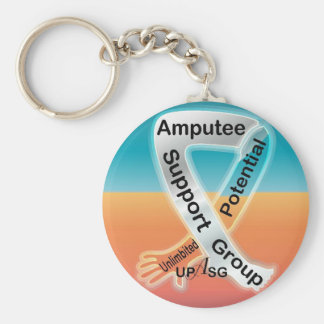 (UPASG)UnLIMBited Potential Amputee Support Group Basic Round Button Keychain