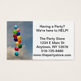Upbeat, Happy, Bright, Cheerful, Fun, Parties Business Card