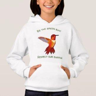 Upbeat Hummingbird Sweatshirt for Girls