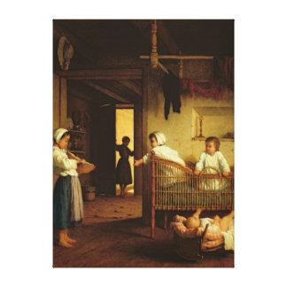 Upbringing, 1867 stretched canvas print