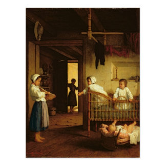 Upbringing, 1867 postcard