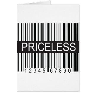 upc Code Priceless Card
