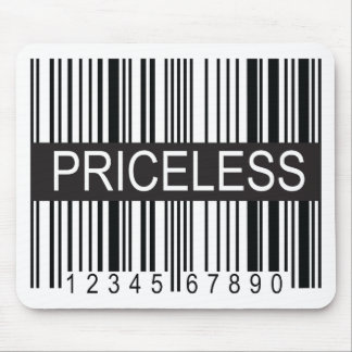 upc Code Priceless Mouse Pad