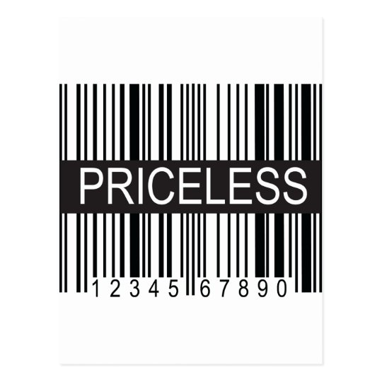 upc Code Priceless Postcard