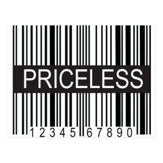 upc Code Priceless Postcard