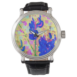 upclose de los bluebonnets reloj