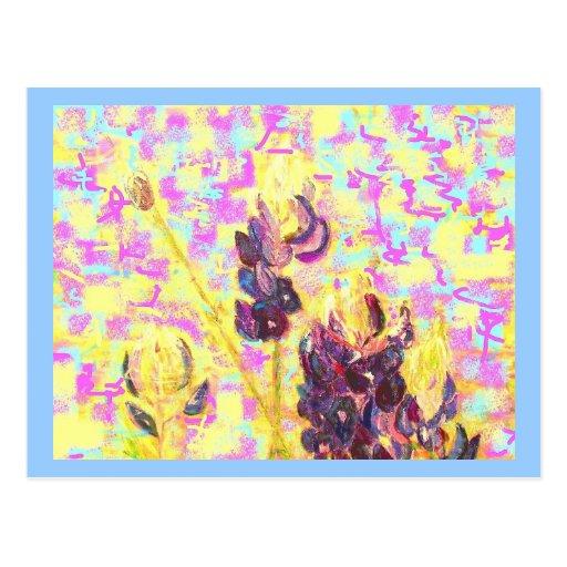 upclose de los wildflowers del bluebonnet (siempre tarjetas postales