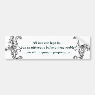 ¡Upclose latino! Pegatina De Parachoque