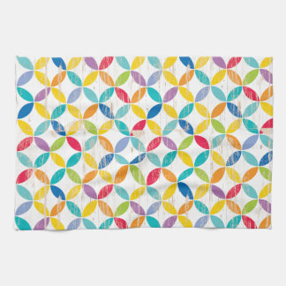 Upcycle Style Rainbow Medallions by CTP Hand Towel