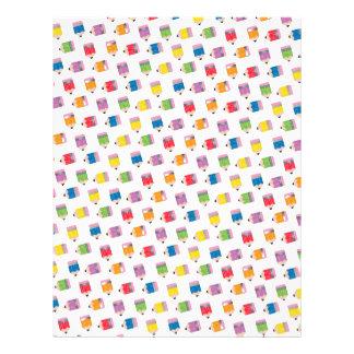Upcycle Style Rainbow Mini Pencils Pattern Letterhead