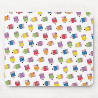 Upcycle Style Rainbow Mini Pencils Pattern Mouse Pad