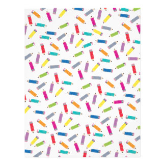Upcycle Style Rainbow Pencils Pattern by CTP Letterhead