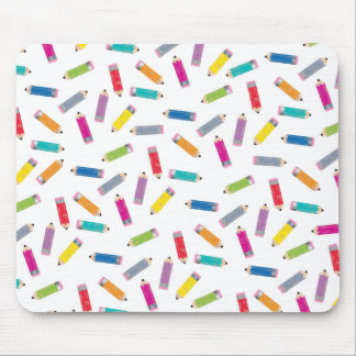 Upcycle Style Rainbow Pencils Pattern by CTP Mouse Pad