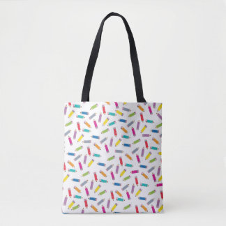 Upcycle Style Rainbow Pencils Pattern by CTP Tote Bag