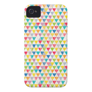 Upcycle Style Rustic Rainbow Triangles Pattern iPhone 4 Case-Mate Case