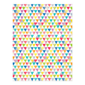 Upcycle Style Rustic Rainbow Triangles Pattern Letterhead