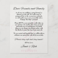 Update wedding announcement card covid19 save the