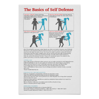Updated Basics of Self Defense Poster