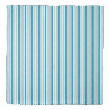 Beach Themed Updated Nautical stripes, blue gray bedroom decor Duvet Cover