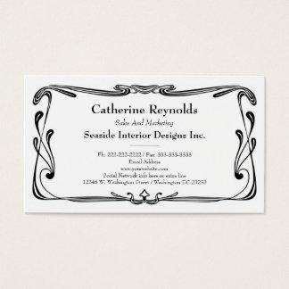 Updated Retro Art Deco Border Simple Flourish Business Card