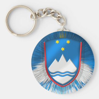 Updated Slovenia emblem for Stylish Slovenians Keychain
