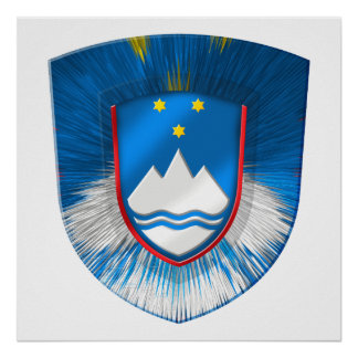 Updated Slovenia emblem for Stylish Slovenians Print