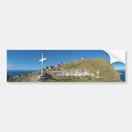 Upernavik Cemetery North West Greenland Panorama Bumper Stickers