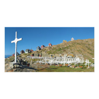Upernavik Cemetery North West Greenland Panorama Picture Card