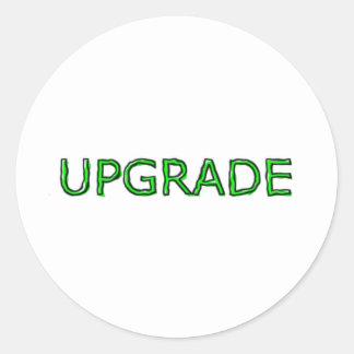 UPGRADE CLASSIC ROUND STICKER
