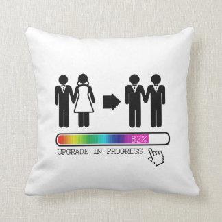UPGRADE TO GAY THROW PILLOW