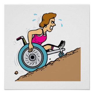 Uphill Race Print
