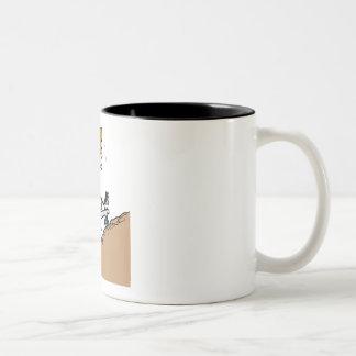 Uphill Race Two-Tone Coffee Mug