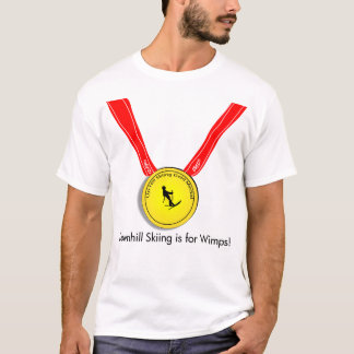 Uphill skiing Gold Medal Olympic T-Shirt