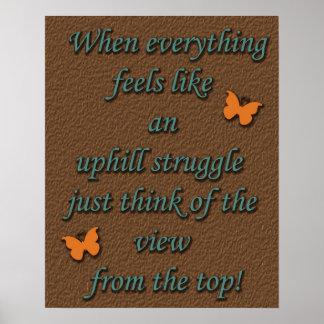 Uphill Struggle Poster